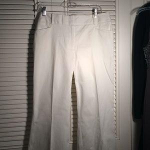 Pants 14, Michael Kors White Cotton Long Pants